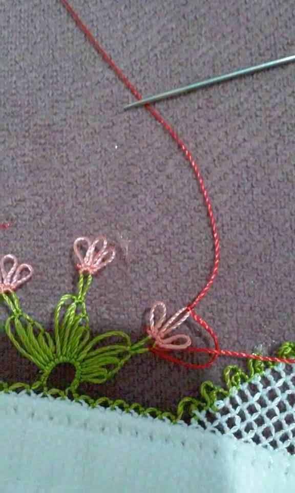 Kalpli havlu kenarı yapılışı 7