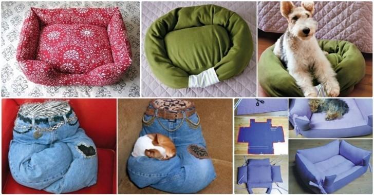 4 Adet Kedi Köpek Yatağı Yapımı