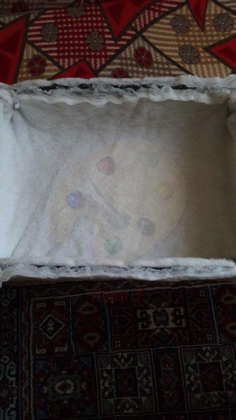 Plastik kasa ile bebek yatağı yapımı 2
