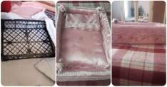 Plastik kasa ile bebek yatağı yapımı