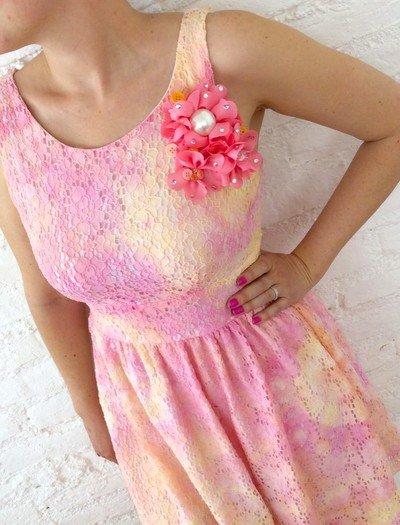 Tie Dye Yöntemi ile Elbise Süsleme