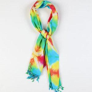 Tie Dye Yöntemi ile Eşarp ve Şal Süsleme