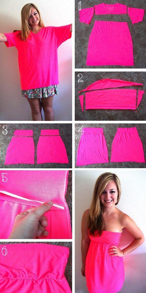 Tişörtten Mini Elbise Yapımı
