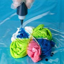 Yuvarlak Tie Dye Tişört Modeli 3