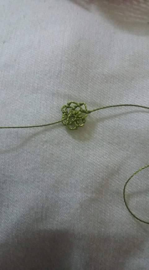 İğne oyası gelincik çiçeği yapımı 25