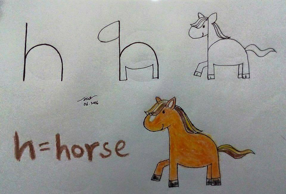 Adım Adım At Resmi Çizimi