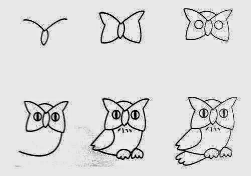 Adım Adım Baykuş Çizimi