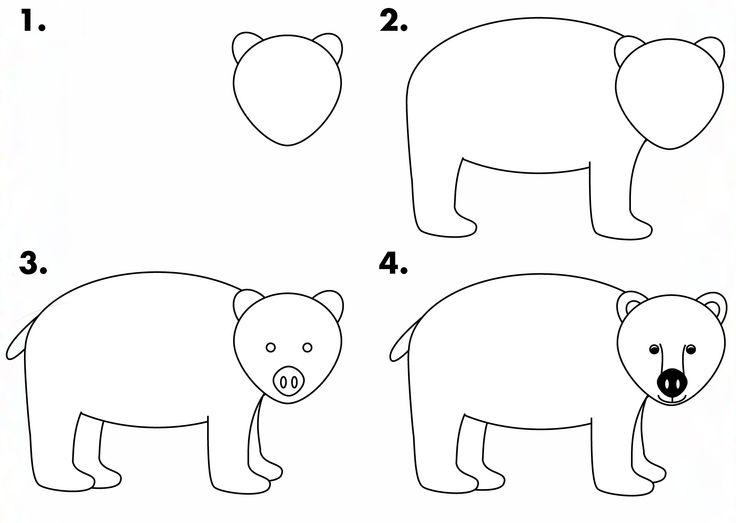 how to draw a small bear