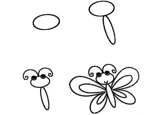 Basit Kelebek çizimi Hobiler