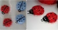 Sakallı İpten Buzdolabı Süsü Uğur Böceği Yapılışı