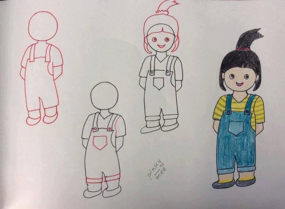 Kız Çocuğu Resmi Çizimi
