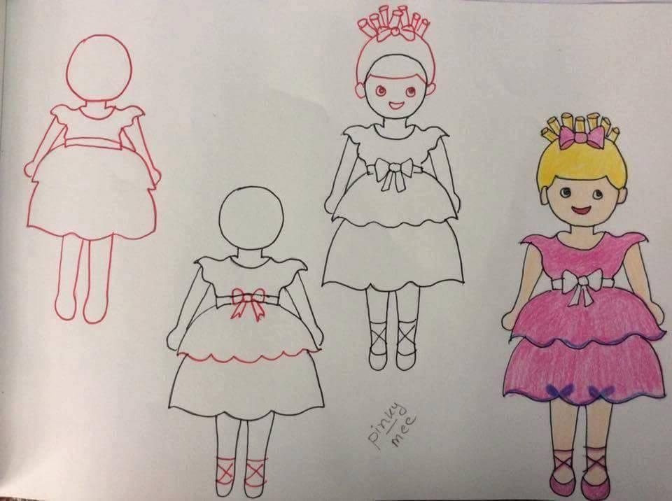 Kız çocuk Resmi çizimi Hobiler