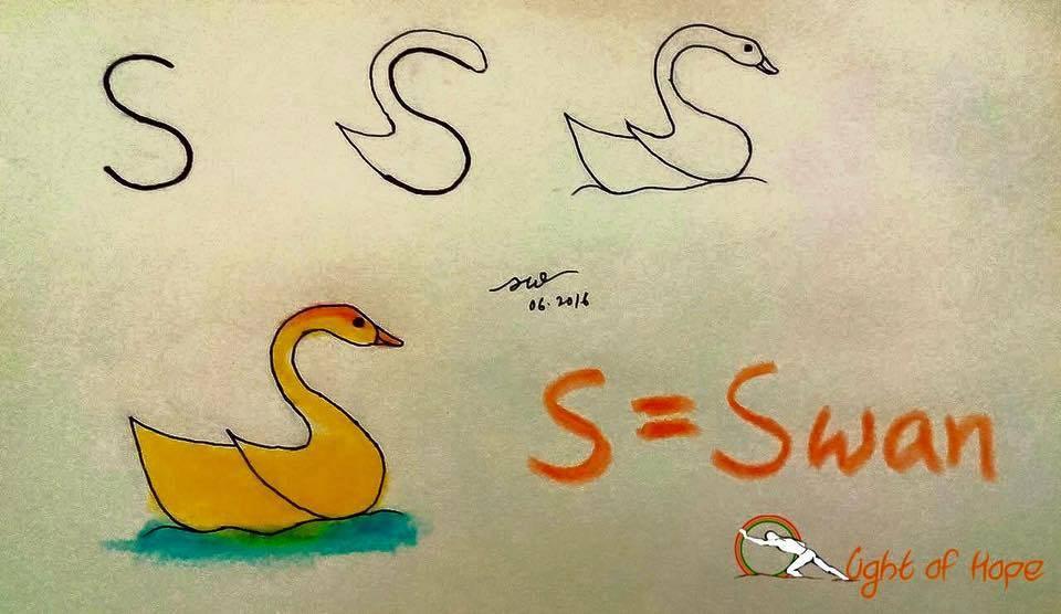Kuğu Resmi Çizimi