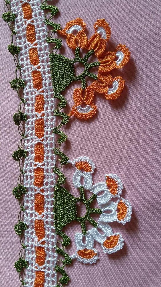 Papatya oyalı havlu danteli