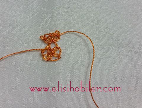 İğne oyası çarkıfelek çiçeği yapımı 15