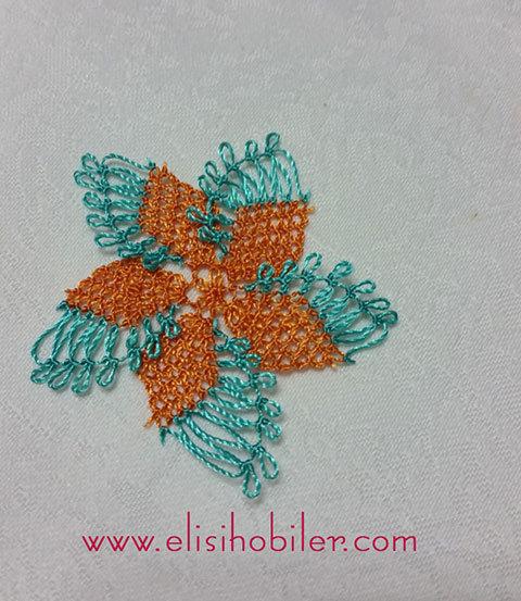 İğne oyası çarkıfelek çiçeği yapımı 36