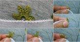 İğne oyası yaprak yapımı resimli anlatımlı