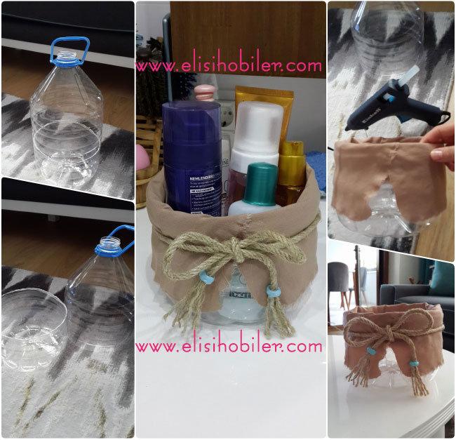 5 Litrelik Su Şişesinden Banyo Sepeti Yapılışı