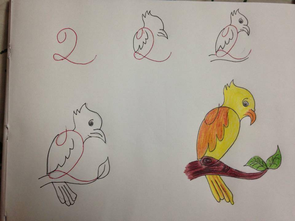Çok Kolay Kuş Çizimi