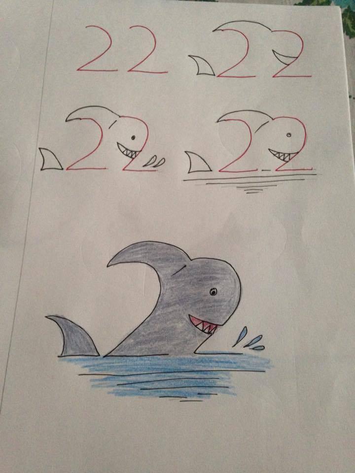 Kolay Köpek Balığı Çizimi