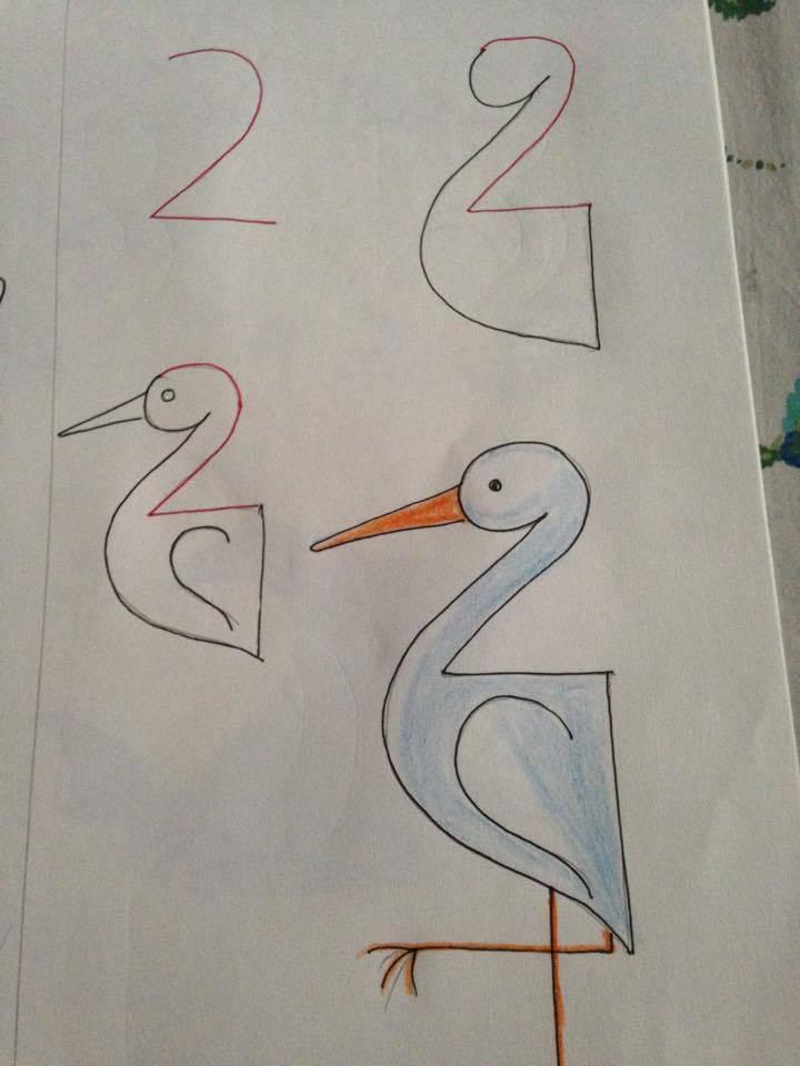 Kolay Leylek Resmi Çizimi