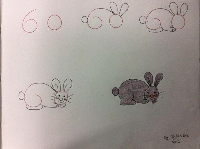 Kolay Tavşan Resmi Çizimi