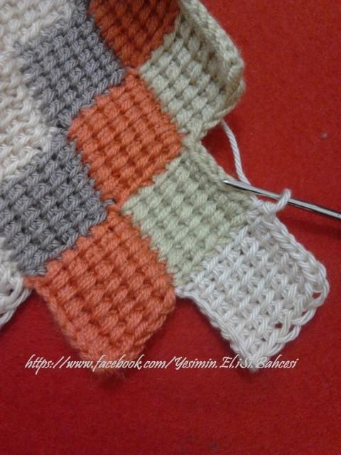 Tunus işi battaniye yapılışı 10