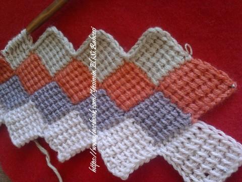 Tunus işi battaniye yapılışı 9