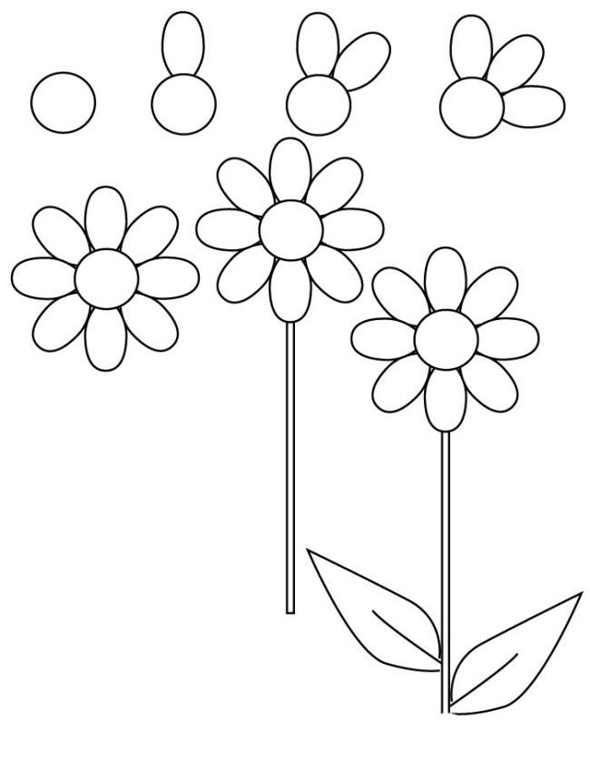 Basit Çiçek Çizimi