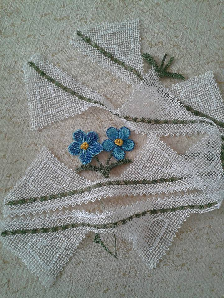 Çeyizlik havlu kenarı dantel örneği
