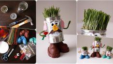 Yumurtadan çim Adam Nasıl Yapılır Etkinlik Saati Ev Yapimi Deney