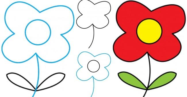 Kolay Çiçek Resmi Çizimi