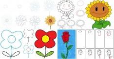 Kolay Çiçek Çizimleri