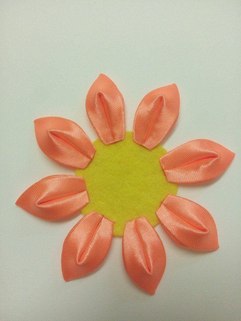 Kurdele Nakışı Kanzashi Çiçeği Yapılışı 14