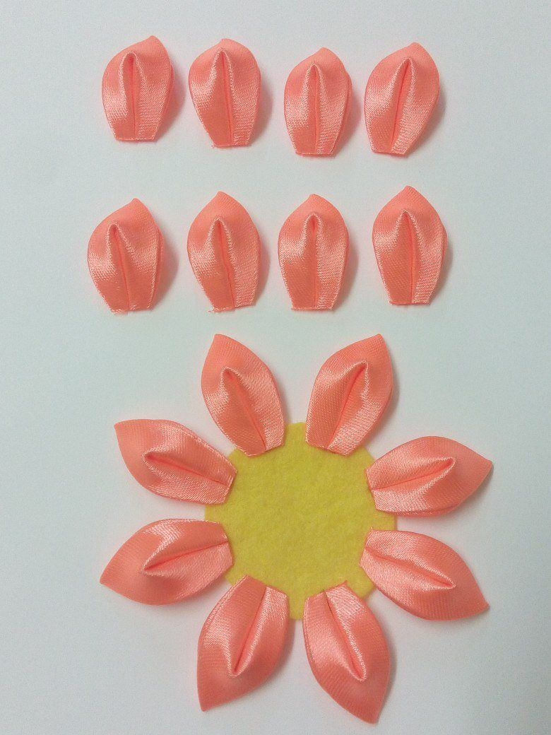 Kurdele Nakışı Kanzashi Çiçeği Yapılışı 15