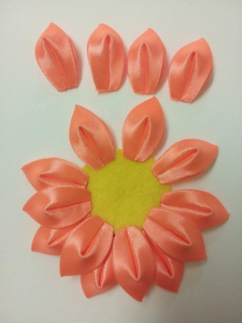 Kurdele Nakışı Kanzashi Çiçeği Yapılışı 16