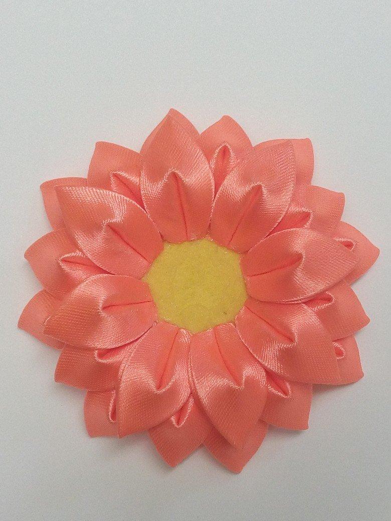 Kurdele Nakışı Kanzashi Çiçeği Yapılışı 19