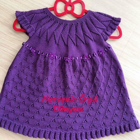 Örgü Bebek Elbisesi Yapılışı 1