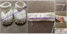 Selanik örgü bebek patiği yapılışı