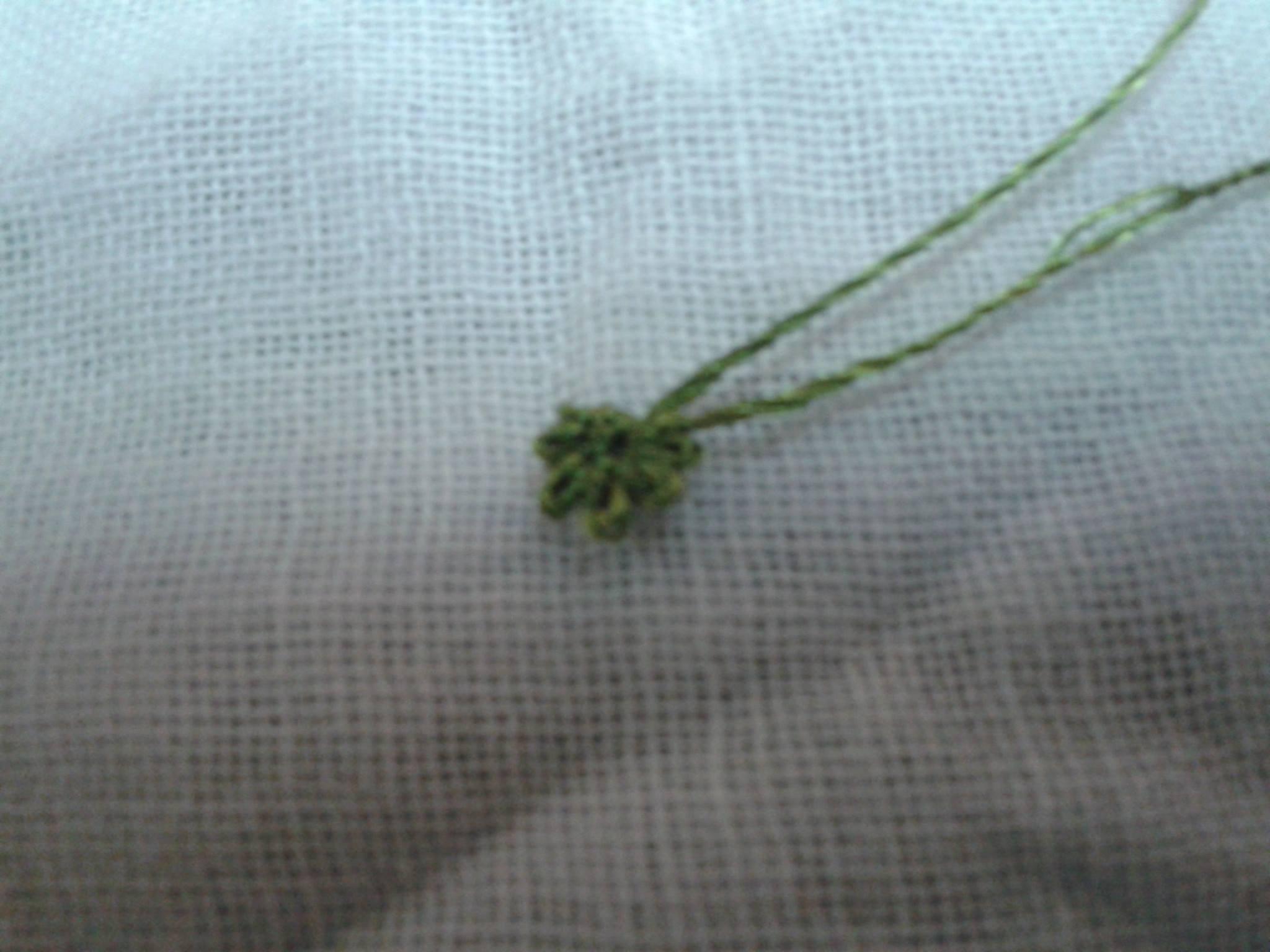 İğne oyası küpe çiçeği yapılışı 2