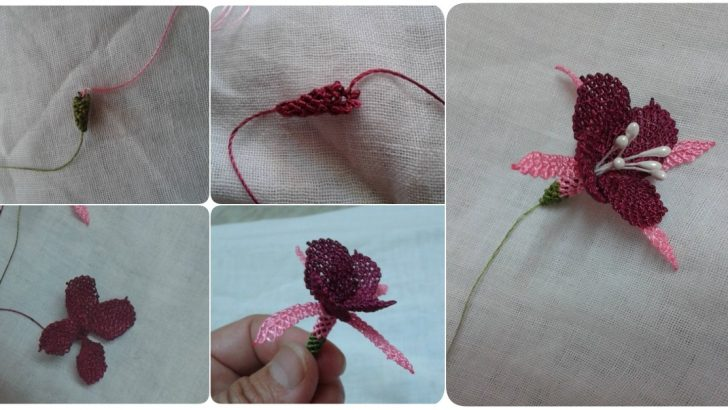 İğne Oyası Küpeli Çiçeği Modeli Yapılışı Videolu Anlatımlı
