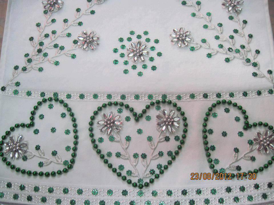 Kalpli kasnak işi havlu kenarı