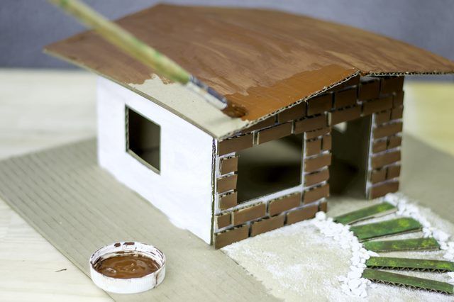 Mukavvadan maket ev yapımı 5