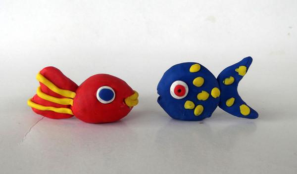 Oyun hamurundan balık yapımı 1