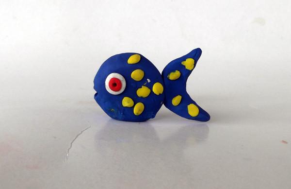Oyun hamurundan balık yapımı 12
