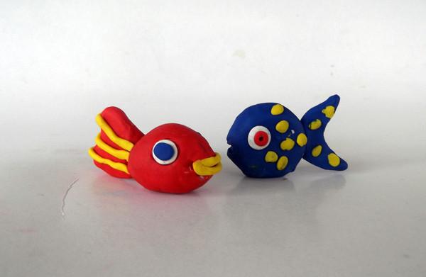 Oyun hamurundan balık yapımı 13