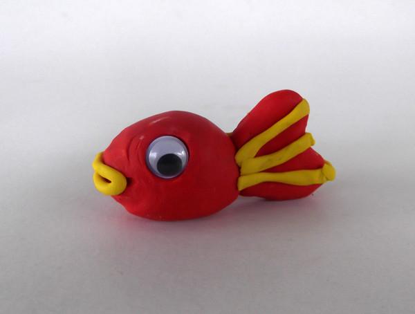 Oyun hamurundan balık yapımı 9