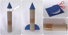 Tuvalet Kağıdı Rulosundan Roket Yapımı