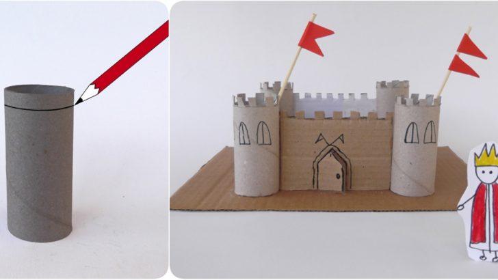 Tuvalet Kağıdı Rulolarından Kale Maketi Yapılışı