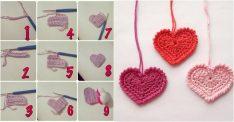 Örgü Kalp Motifi Yapılışı
